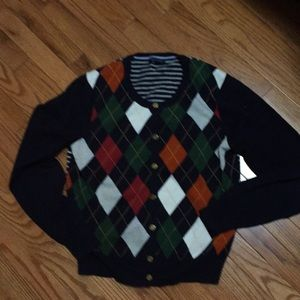 Classic argyle cardigan by Tommy Hilfiger